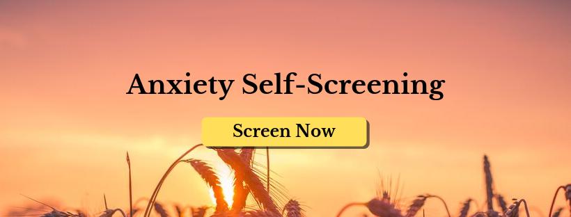 anxiety self screening